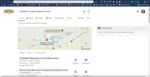 Affordable Websites for Small Businesses Google Map Ranking